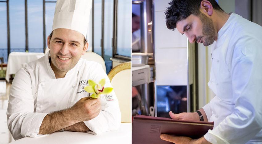 Gli chef Luigi Lionetti e Andrea Aprea