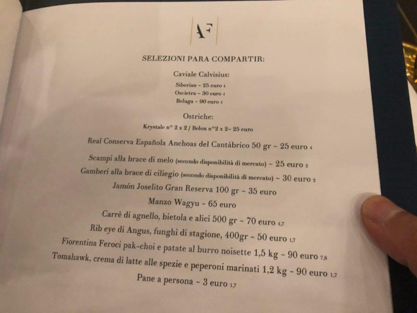 antica fonderia roma menu antipasti para compartir prezzi