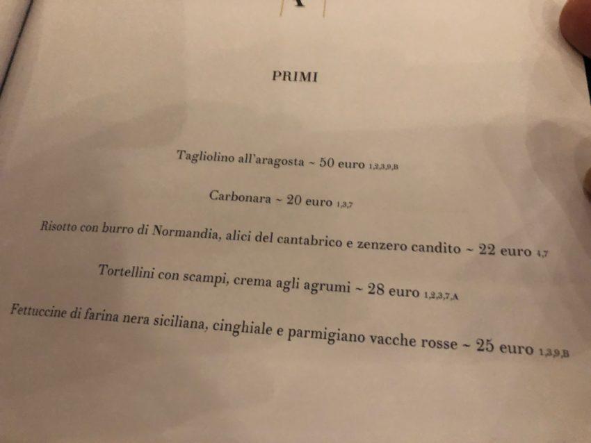 antica fonderia roma menu primi prezzi
