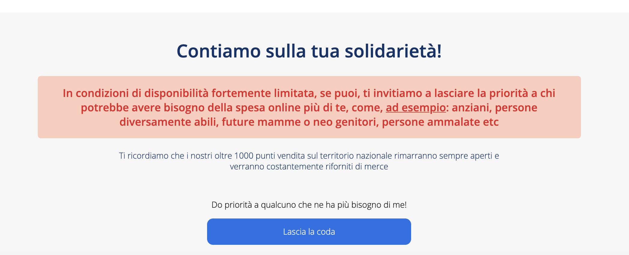 Carrefour online Coronavirus