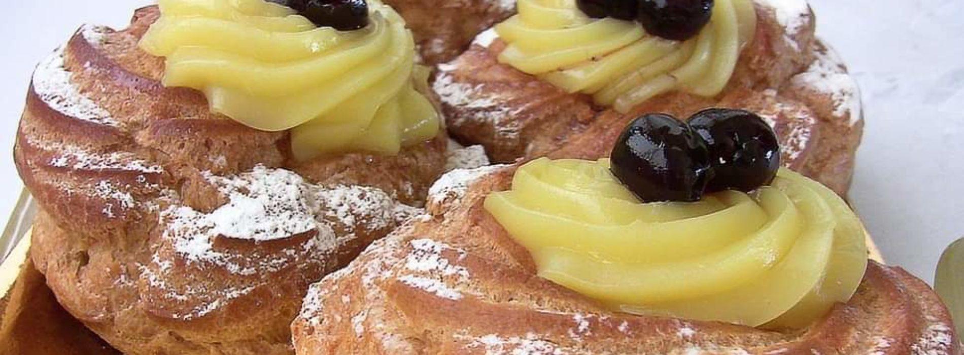 Zeppole di San Giuseppe Roma gratis a casa, Foodys e PuroSud per la festa del papà