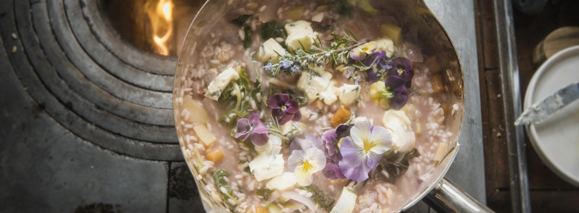 Risotto 50 Sfumature di Blu, la ricetta dello chef Riccardo De Prà