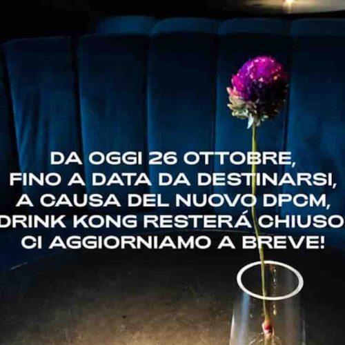"""La filastrocca del coprifuoco di Patrick Pistolesi, mentre Drink Kong a Roma chiude """"per lutto"""""""
