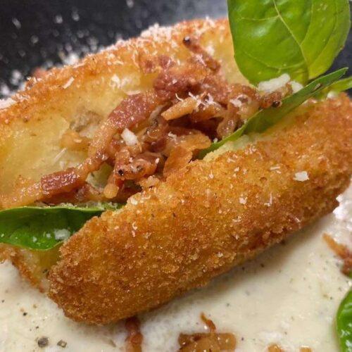 Crocchetta alla Gricia, la ricetta di Marco Quintili della pizzeria IQuintili di Roma