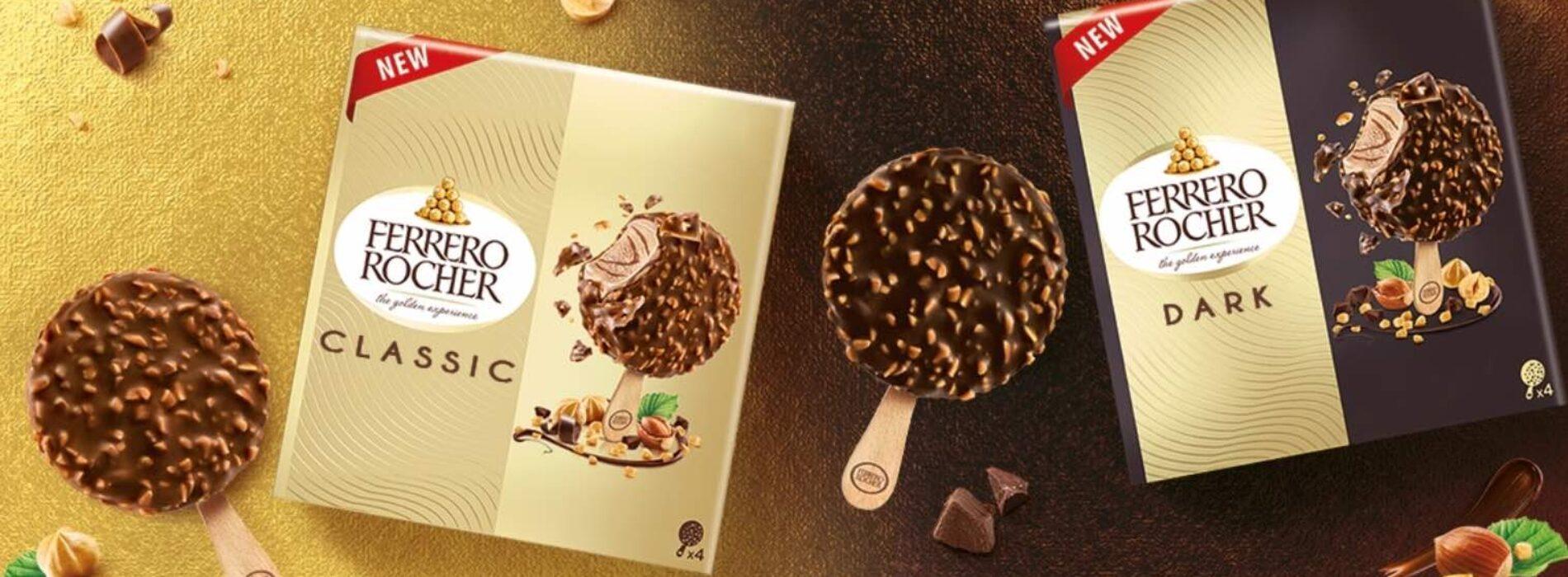 Ferrero debutta nel mercato dei gelati confezionati: stecchi Rocher e Raffaello e ghiaccioli Estathé