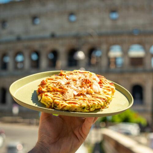 Maido Roma: il primo okonomiyaki street food d'Italia porta a Monti la tradizionale frittella giapponese